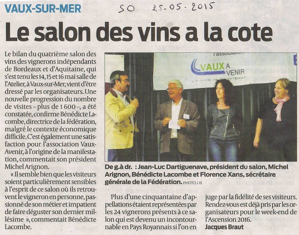 Salon des vins 2015 for Calendrier salon des vins